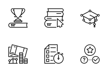Distance Learning 4 Icon Pack