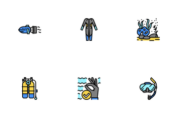 Diving Scuba Icon Pack