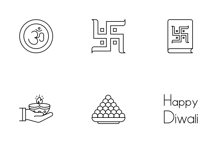 Diwali - 2017 Icon Pack