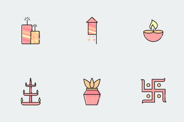 Diwali Elements Icon Pack