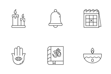 Diwali Line Icons Icon Pack