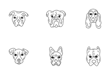 Dog Faces Icon Pack