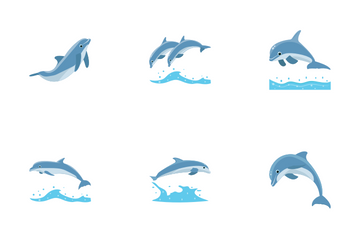 Dolphin Jumping Icon Pack