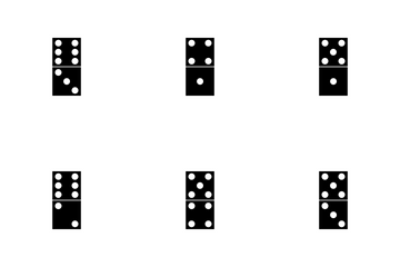 Dominoes GLYPH Icon Pack