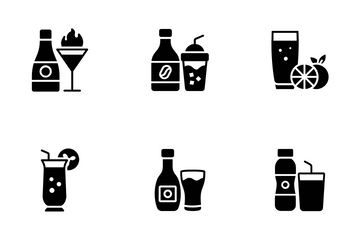 Drink And Cocktail Icon Pack