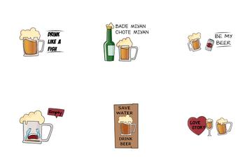 Drink Sticker Icon Pack