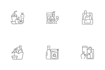 Drinks To Go And Takeaway Food Icon Pack
