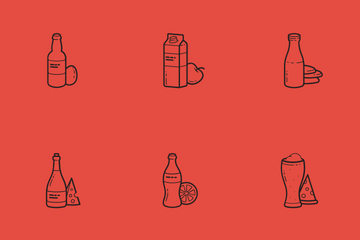 Drinks With Some Snacks Icon Pack