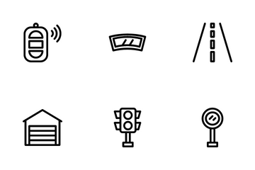 Driving And Car Parts Icon Pack