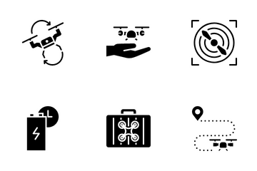 Drone, Aircraft And Aerial Icon Pack