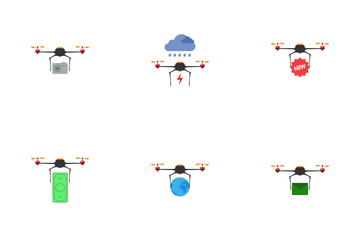 Drone Color Icon Pack