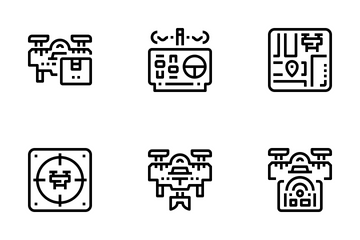 Drone Technology  Icon Pack