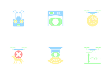 Drone Usage Icon Pack