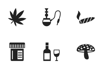 Drugs And Narcotics Icon Pack