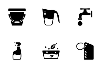 Dry Cleaning Laundry Icon Pack
