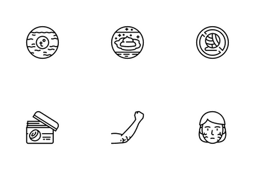 Dry Skin Treatment Icon Pack