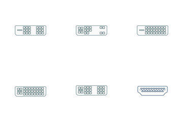 DVI And HDMI Connectors Icon Pack