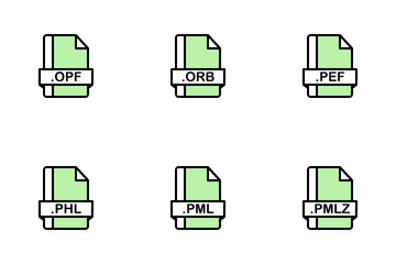 E-books File Format Icon Pack