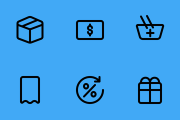 E Commerce And Shopping (Outline) Icon Pack