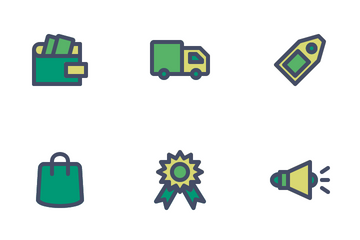 E-Commerce (Filled Outline) Icon Pack