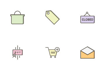 E Commerce Filled Outline Icon Pack