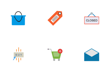 E Commerce Flat Icon Pack