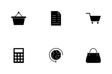 E Commerce Glyph Icon Pack