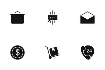 E Commerce Glyph Icon Pack