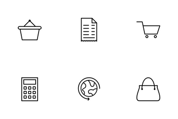 E Commerce Line Icon Pack