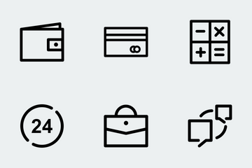 E Commerce  (line) Icon Pack