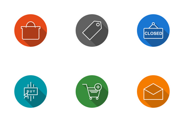 E Commerce Line Circle Icon Pack