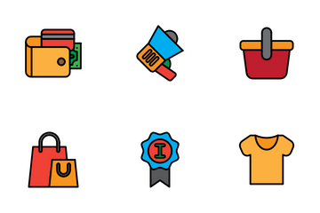 E Commerce Lineal Style Icon Pack
