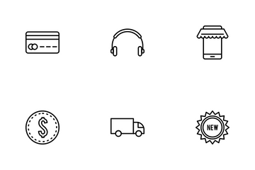 E Commerce Linear Icon Pack