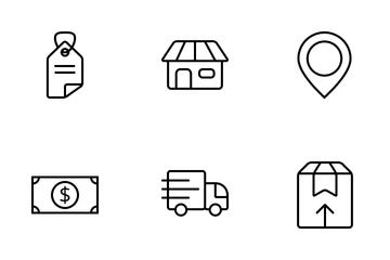 E-Commerce Online Shop Icon Pack