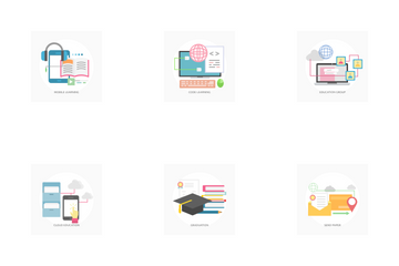 E-Learning And Online Education Icon Pack