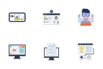 E-Learning Flat - Education Technology Icon Pack