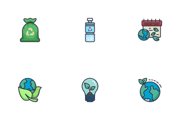 Earth Day And Green Economy Icon Pack