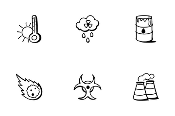 Earthquake And Disaster Icon Pack