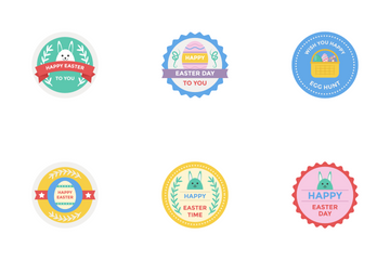 Easter Day Badges Icon Pack