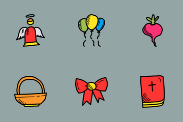 Easter Doodles Icon Pack