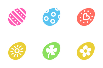 Easter Egg Color Set Icon Pack