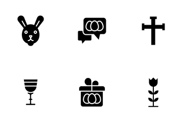 Easter - Glyph Icon Pack