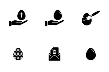 Easter Glyph Icon Pack
