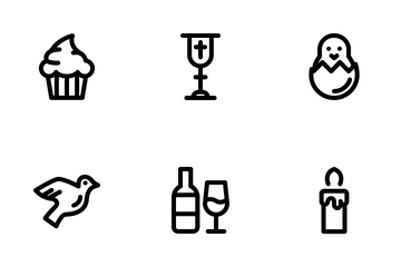 Easter (line) Icon Pack