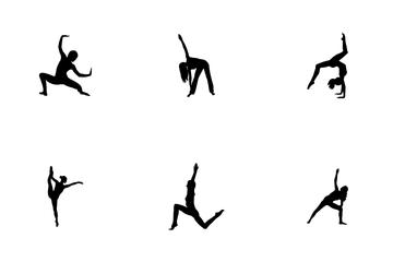 Easy Gymnastics Poses Icon Pack