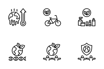 Eco-Friendly Lifestyle Icon Pack