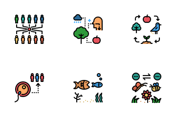 Ecological Interaction Icon Pack