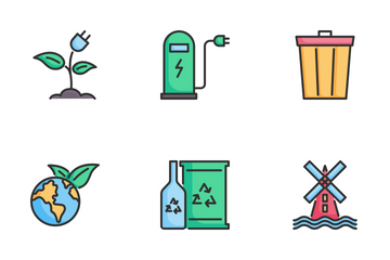 Ecology And Green Energy Icon Pack