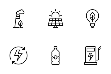 Ecology And Green Environment Icon Pack