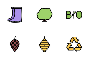 Ecology Colored  Icon Pack